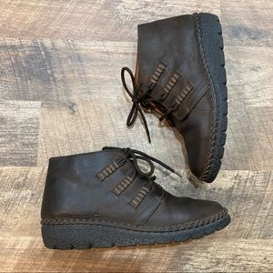 Josef Seibel Air Massage Leather Lace Up Shoe Boot